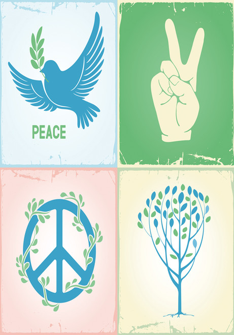 Piece by Peace - Standard Flag by Serious