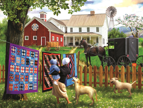 Family Homestead - 500pc Jigsaw Puzzle by SunsOut