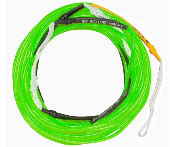 Accurate X Line Neon Green Wakeboard Mainline Rope - 70 ft.