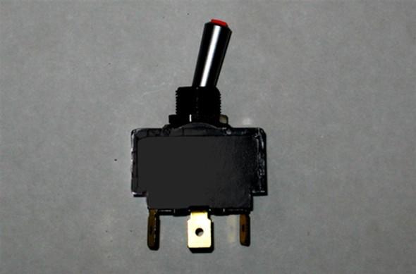 MasterCraft Toggle Switch Red LED 2 Position 3 Prong