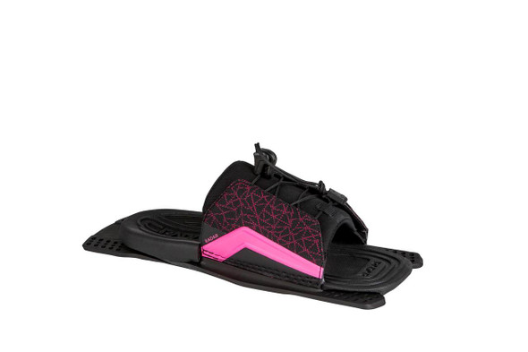 Lyric Adjustable Rear Toe - Black / Pink - Feather Frame