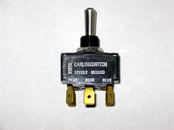 MasterCraft Toggle Switch Blue LED 3 Position 8 Prong