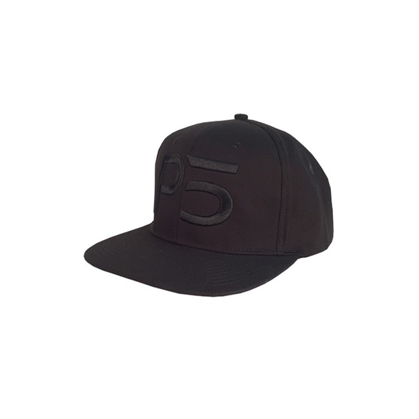 Flatbill Snapback Hat - Black