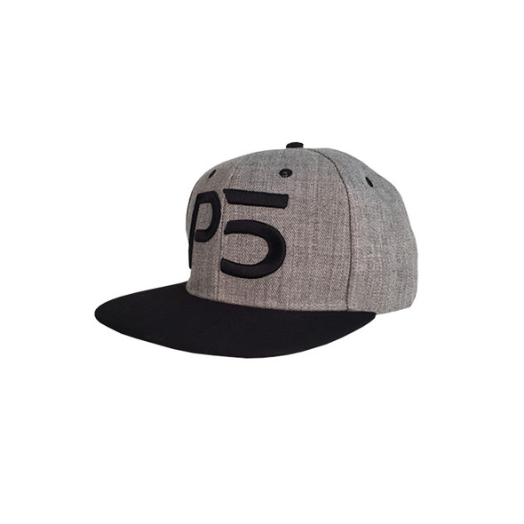 Flatbill Snapback Hat - Grey