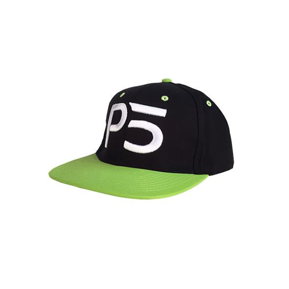 Flatbill Snapback Hat - Lime