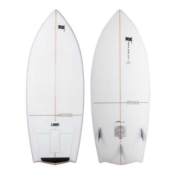 2020 Ronix Flyweight Bat Tail Thruster Wakesurf Board