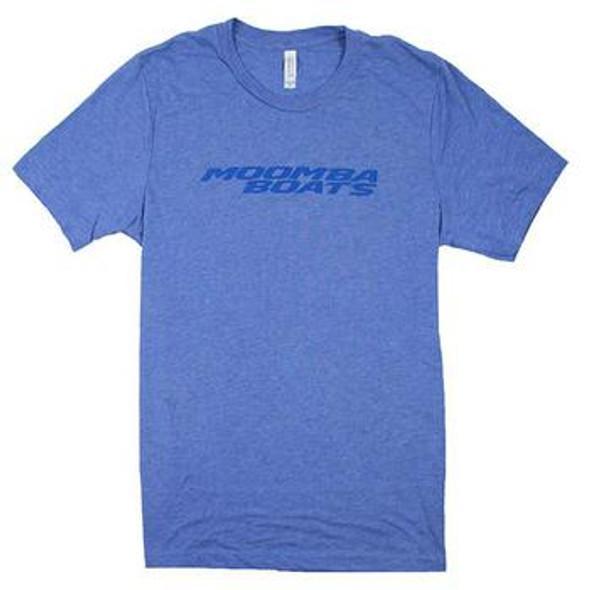 Moomba Logo - Triblend Blue T-Shirt