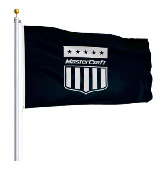 Mastercraft Shield Flag 3'x5' - Black