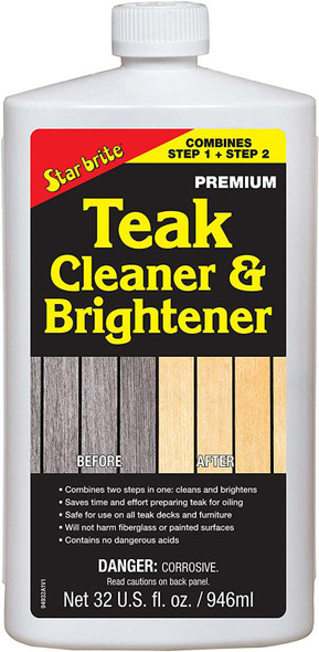 Starbrite Premium Teak Cleaner and Brightener - Step 1 & 2