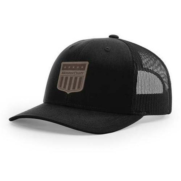MasterCraft Leather Shield Patch Snapback Trucker Hat