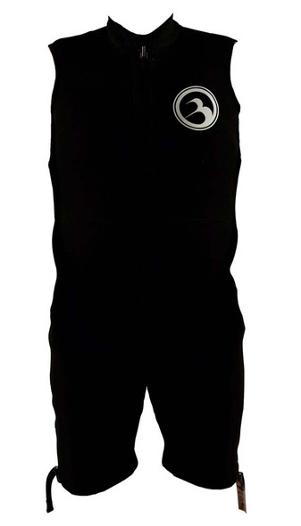 2021 Barefoot International Sleeveless Wetsuit Black W/ White Logo