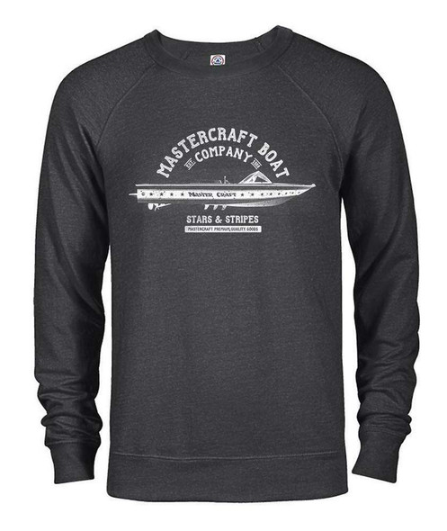 MasterCraft Stars & Stripes Men's Crewneck Sweatshirt-Charcoal Heather