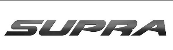 Supra Boats Matte Black Transom Decal 36""