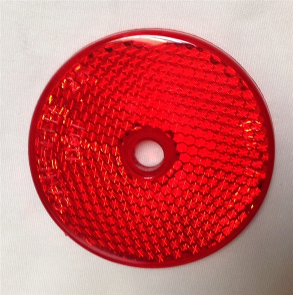 """Red 2"""" Round Reflector for MasterCraft Trailers"""
