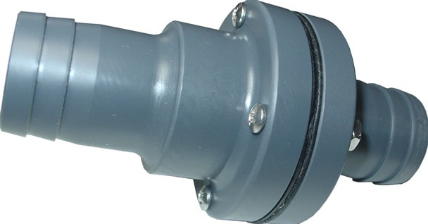 "Fly High Fat Sac Fitting W753 - 1"" Barbed Check Valve"