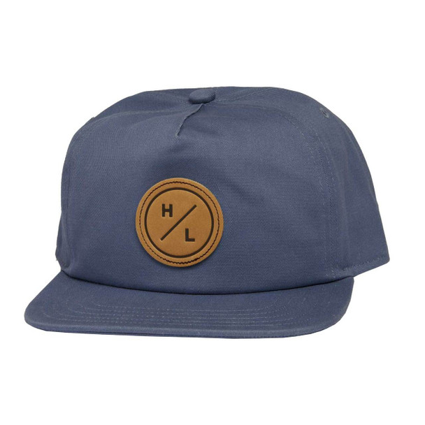 Hyperlite Leather Patch Hat Blue - OSFA