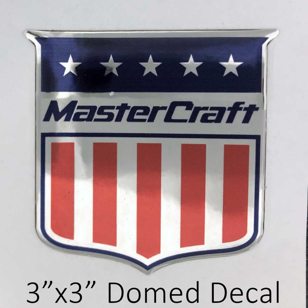 """MasterCraft Shield Decal 3"""" 