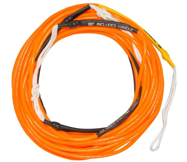 Accurate X Line Neon Orange Wakeboard Mainline Rope - 70 ft.