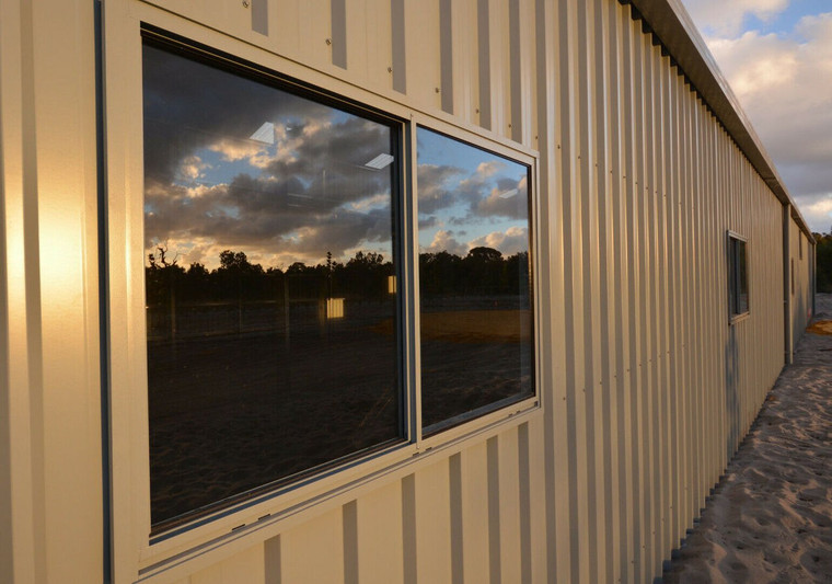 Aluminium Sliding Window 790mm x 816mm for Sheds