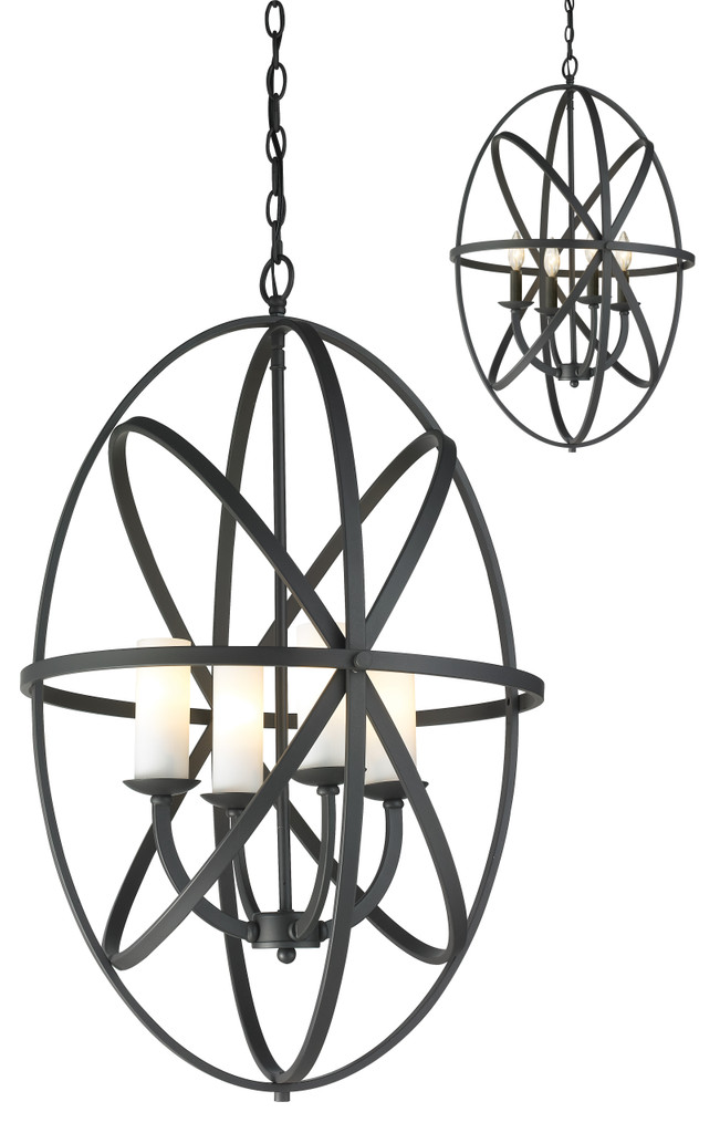 Z-Lite 4 Light Pendant - 6027-4L-BRZ