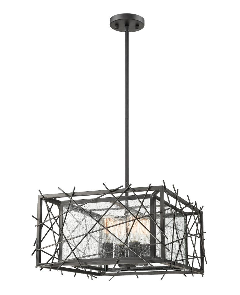Z-Lite 4 Light Pendant - 8000-18BRZ