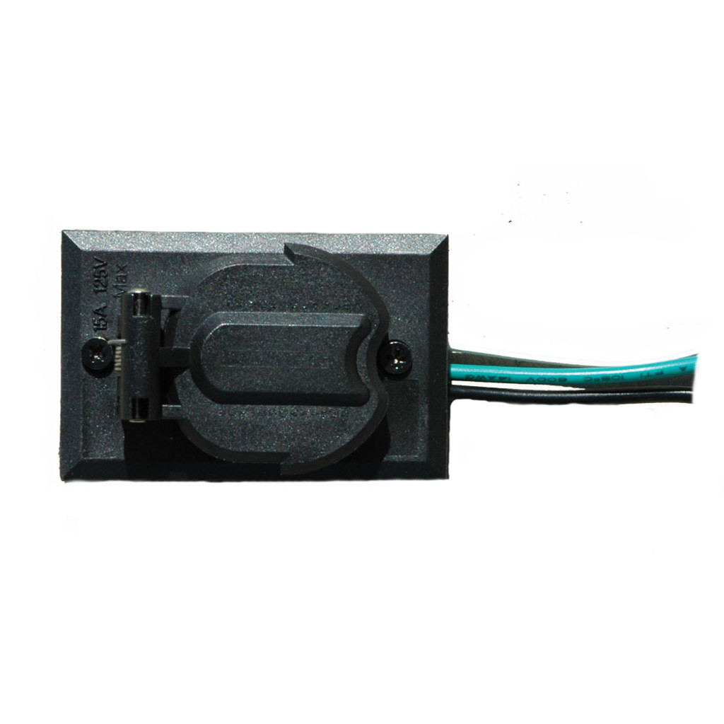 120V Black Electric Outlet