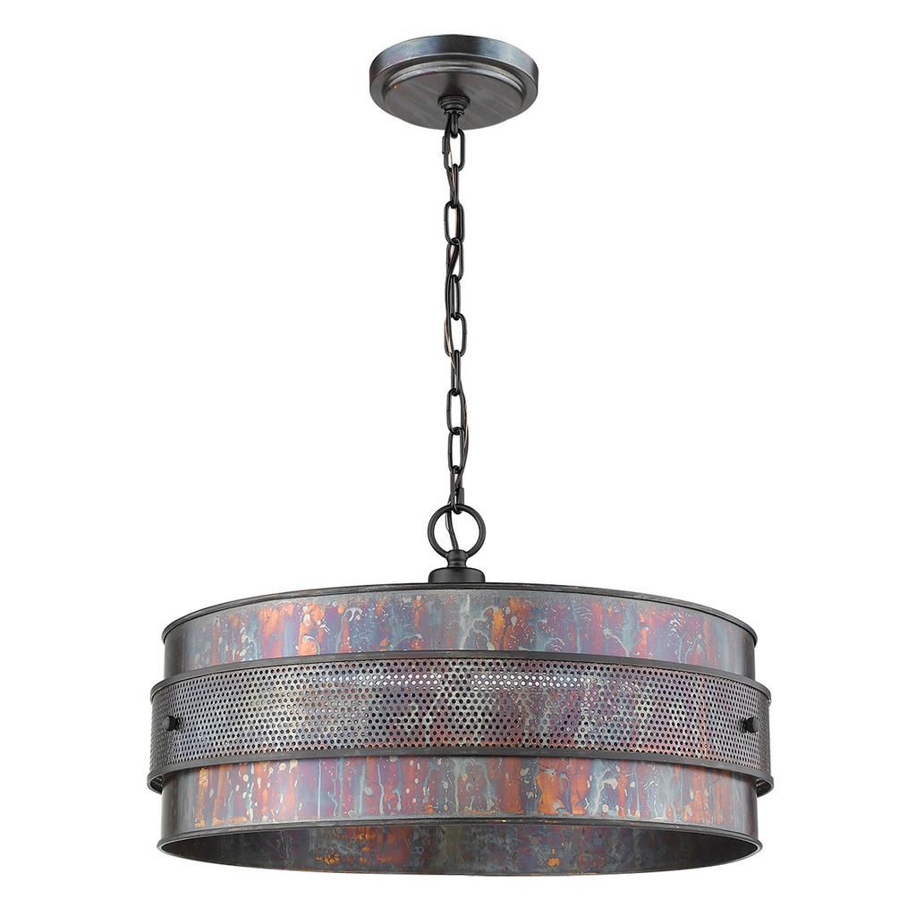 Ryker 3-Light Bronze Patina Pendant