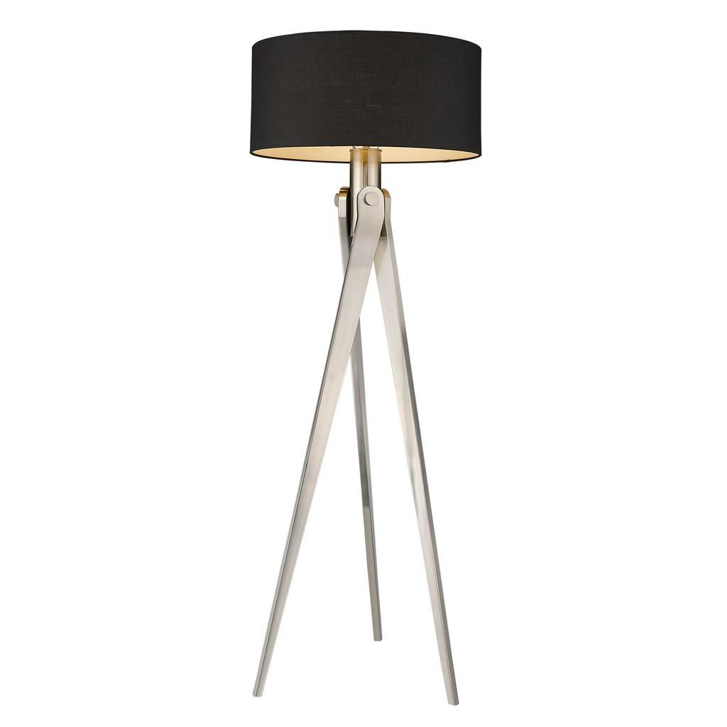 Sangallo 1-Light Satin Nickel Floor Lamp