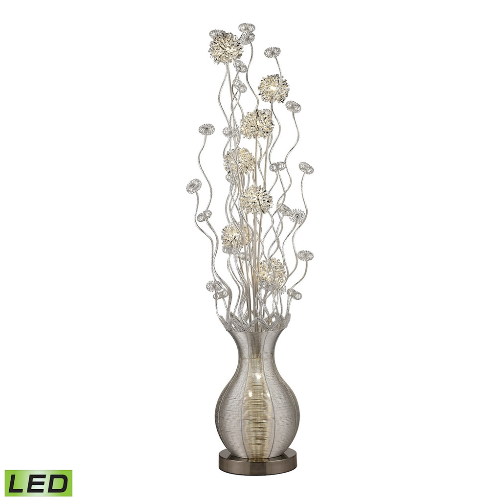 - Union Town Floor Lamp in Silver - Integrated LEDD2716