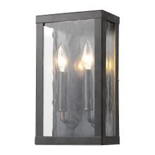 Charleston 2-Light Oil-Rubbed Bronze Shadowbox Wall Light (Small)