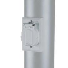 120V White Electric Outlet