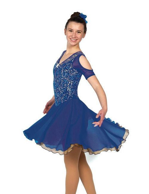 All That Glitters Ice Dance Dress - Royal