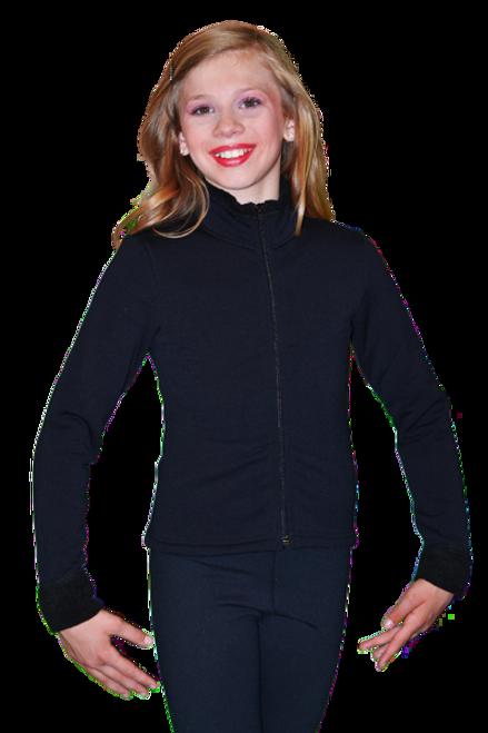 Polar Fleece Jersey Velour Fitted Jacket