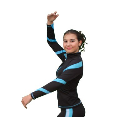 Poly Spandex Spiral Skate Jacket