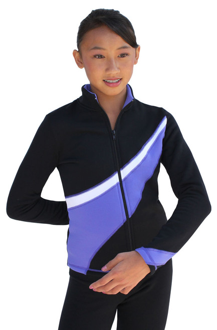 Two Tone Polar Fleece Fitted Jacket