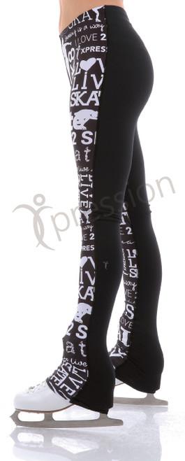SK8 Legging Half N Half - Black