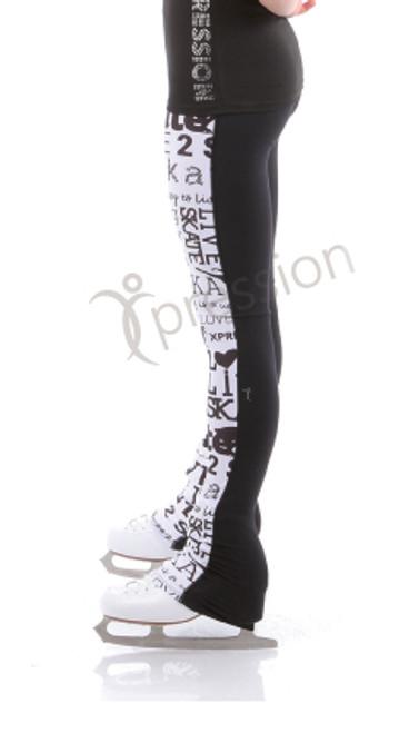 SK8 Legging Half N Half - White
