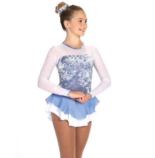 Ice Crackle Dress - Frost Iris