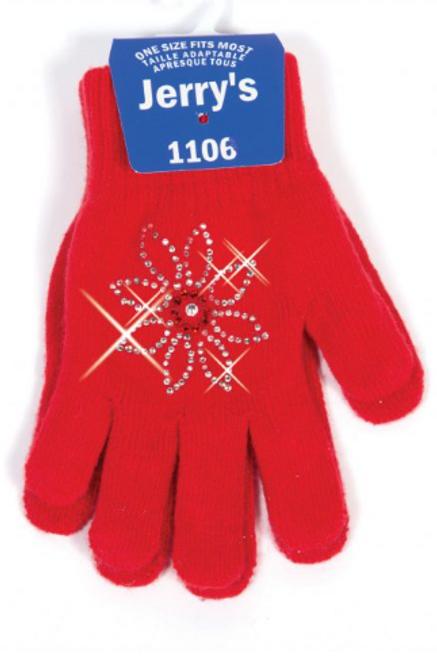 Daisy Print Rhinestonei Gloves