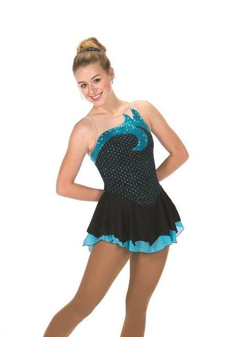 Sequin Splash Dress - Blue