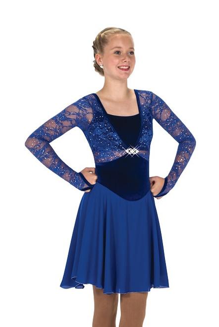Jerry's 272 Tiara Twirl Ice Dance Dress - Royal Blue