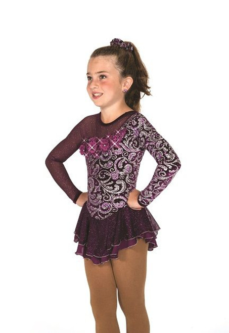 Aubergine Elegance Skating Dress