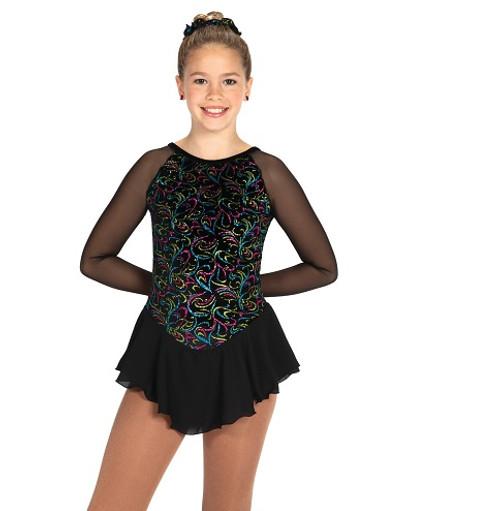 Swizzle & Tizzle Skating Dress - Black Twizzle