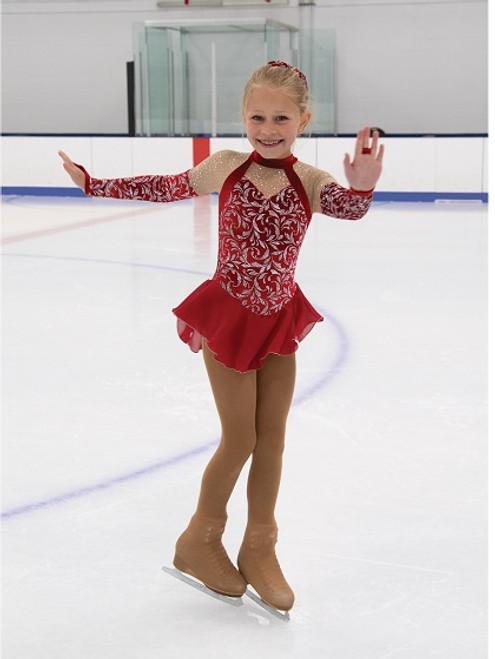 Roxy in Red Skating Dress