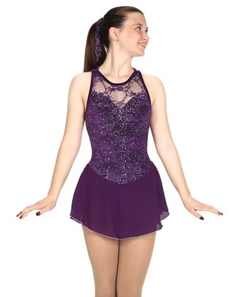 Starlit Lace Dress - Deep Purple