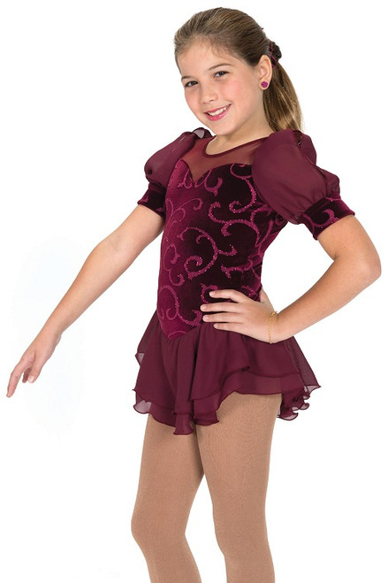 Bella Bordeaux Skating Dress