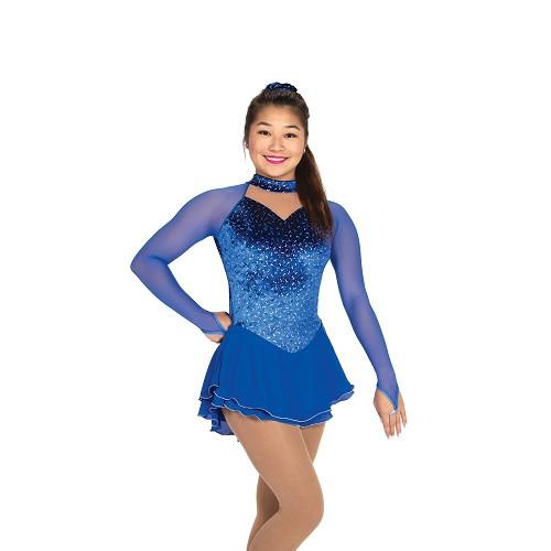 Ice Galaxy Skating Dress - Royal Blue