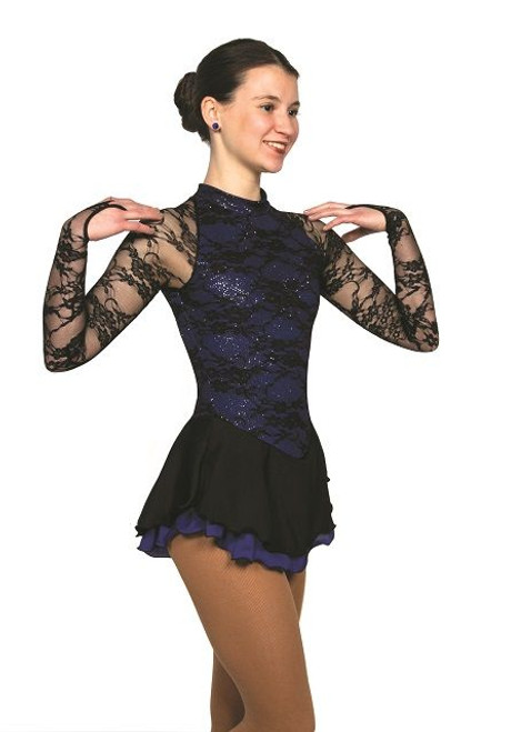 Onyx on Iris Skating Dress
