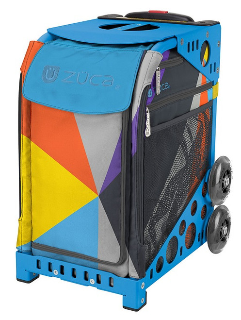 Colorblock Zuca Bag w/Blue Frame