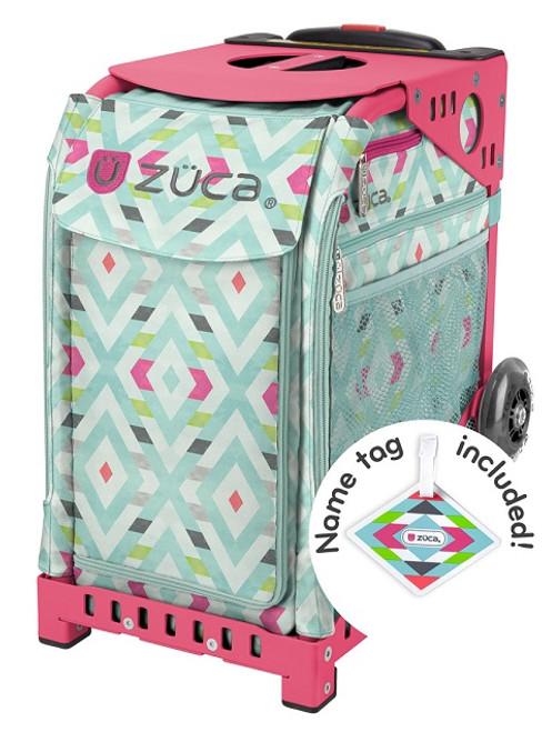 Chevron Zuca Bag w/Pink Frame